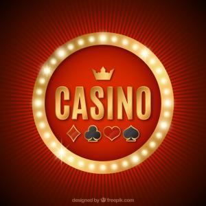Casino-teksti ja pelikorttien maat